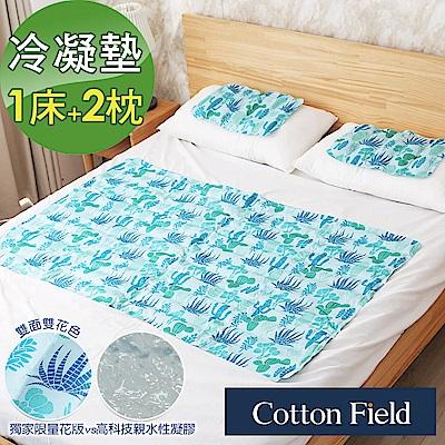 棉花田 綠洲 酷涼冷凝床墊組(1床+2枕)