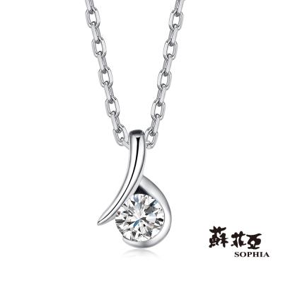 蘇菲亞SOPHIA 鑽鍊- 雋永0.10克拉八心八箭套鍊(共兩色)
