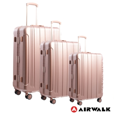 AIRWALK LUGGAGE - 金屬森林 鋁框行李箱 20+24+28吋兩件組-玫銅金
