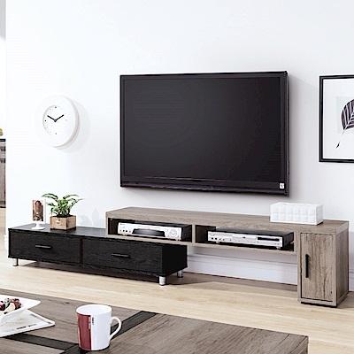 品家居 曼威特 4 . 6 尺伸縮長櫃/電視櫃- 140 x 30 x 41 cm免組