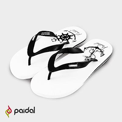 Paidal海錨圖騰人字拖海灘拖夾腳拖鞋