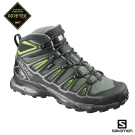 Salomon 登山鞋 中筒 GORETEX 防水 男 X ULTRA 2 綠