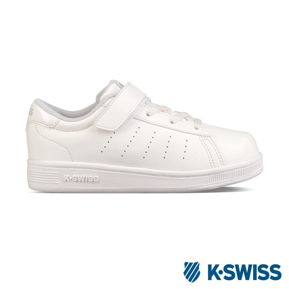 K-Swiss Clean Court VLC休閒運動鞋-童-白