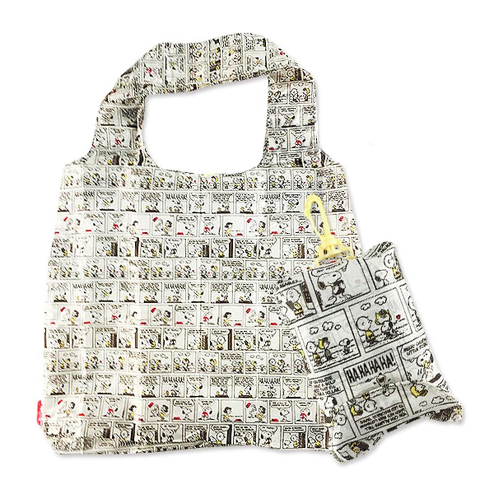 SHO-BI SNOOPY滿版圖案環保購物袋(方格漫畫)