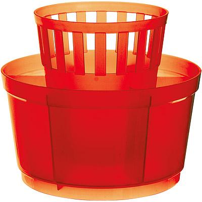 EXCELSA 七格餐具瀝水筒(紅)