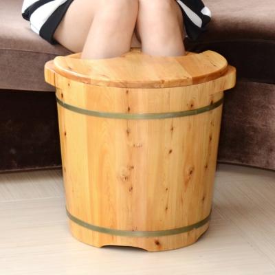 LIFECODE 養生香柏木高腳泡腳桶/足浴桶-附蓋子