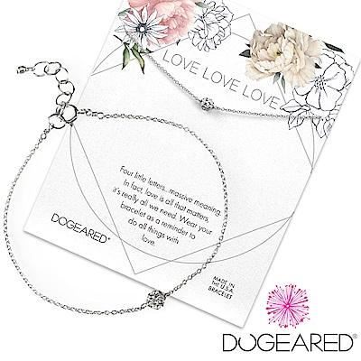 Dogeared love 珍愛系列 經典碎鑽圓球銀色手鍊 附原廠盒