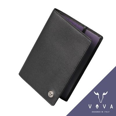VOVA-自由系列3卡蜥蜴紋護照夾-黑色