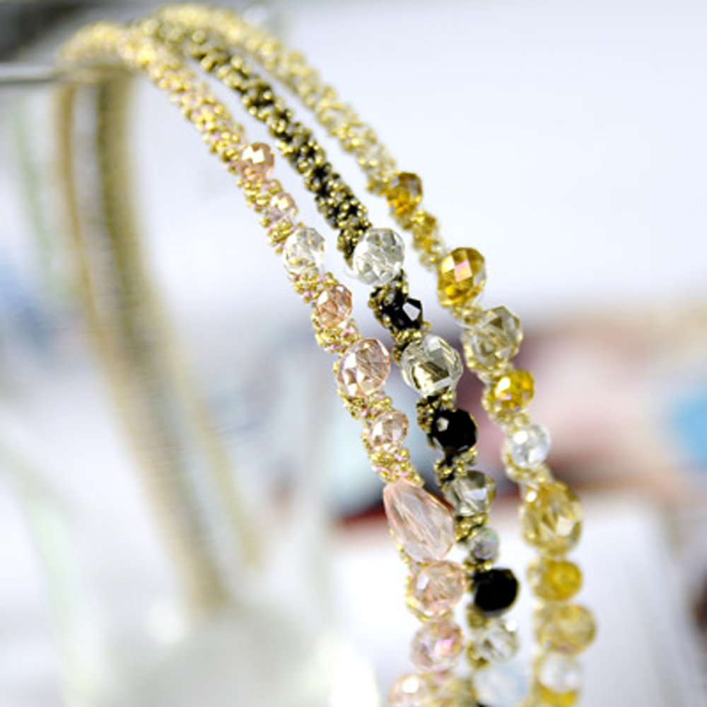 【Aimee Toff】珠光亮澤脫俗質氛水晶髮圈(3色)