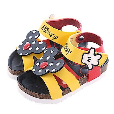 迪士尼米奇魔鬼貼涼鞋 黑黃 sk0411 魔法Baby