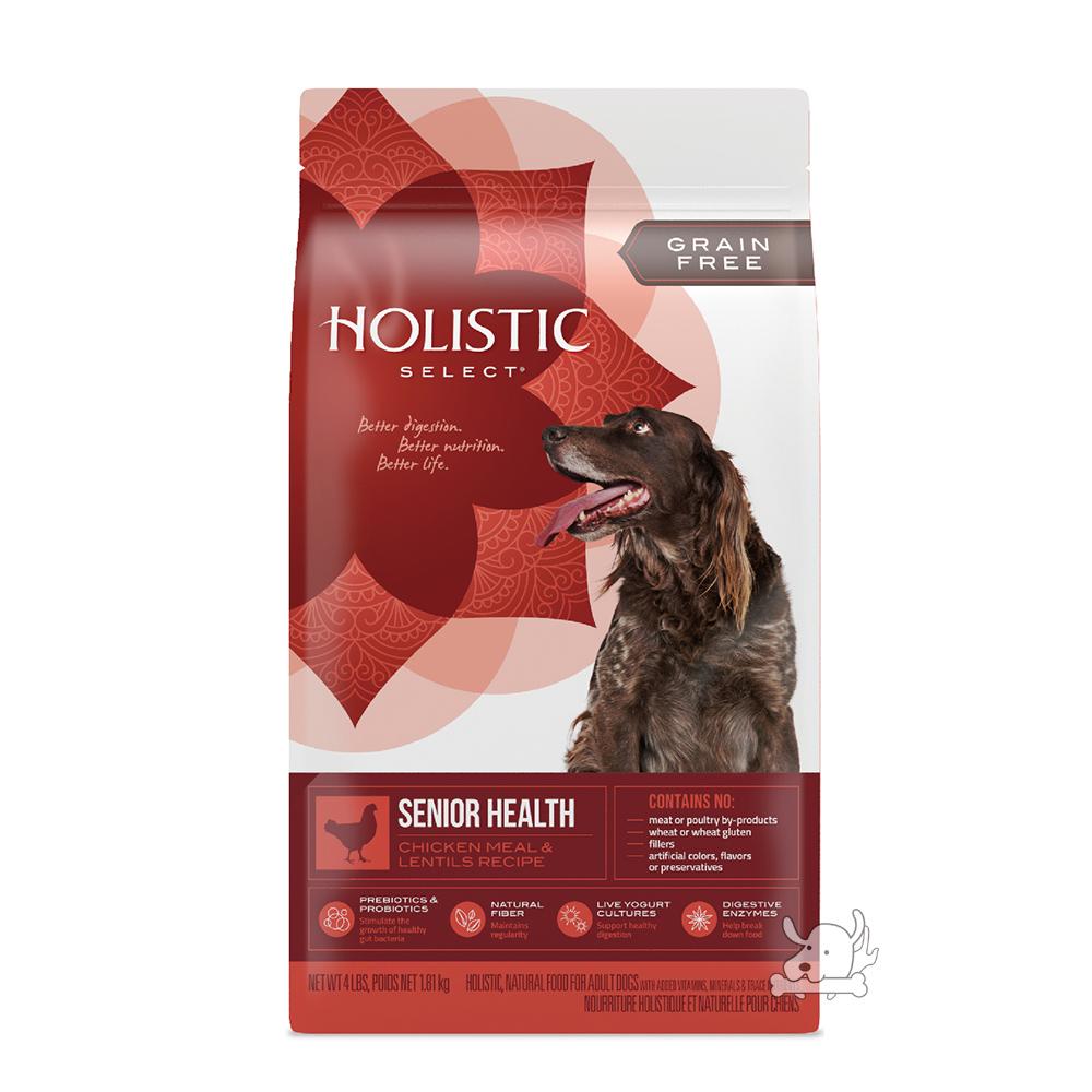 Holistic Select 活力滋 無穀老犬 雞肉養生健康配方 12磅 X 1包