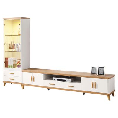 時尚屋 寶格麗9尺L型電視櫃