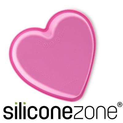 Siliconezone 施理康耐熱愛心造型小蛋糕模-粉色