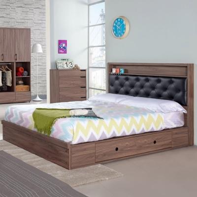 Homelike 克拉抽屜式床台組-雙人加大6尺
