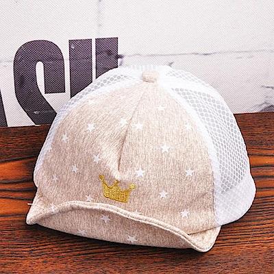 iSFun水彩星星 皇冠刺繡兒童棒球帽2色可選