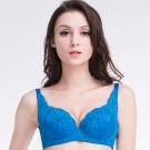 思薇爾 春露系列B-F罩包覆蕾絲內衣(尊爵藍)