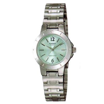 CASIO 時尚精緻小巧淑女腕錶(LTP-1177A-3A)-粉綠/28mm
