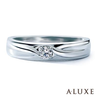 A-LUXE 亞立詩鑽石  18 K金情侶結婚戒指 -男戒