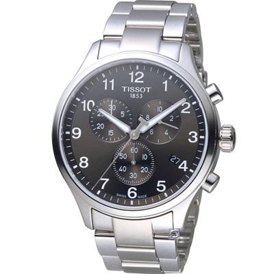 TISSOT 韻馳系列經典計時腕錶(T1166171104701)黑/45mm