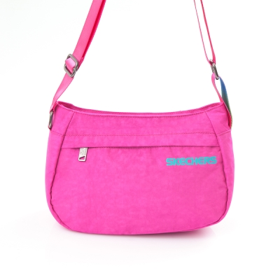 SKECHERS Glow SMALL TOTE 桃紅色 小側背包 - 7610116