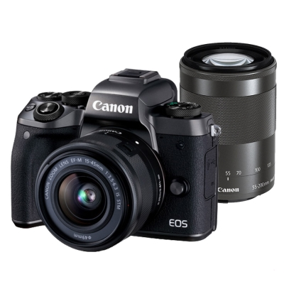Canon M5 15-45mm+55-200mmIS STM 雙鏡組 (平輸中文)