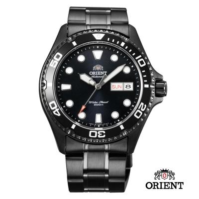 ORIENT 東方 WATER RESISTANT 200米潛水機械錶-鍍黑/41.5mm