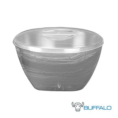 牛頭牌彩晶波紋隔熱碗-大理石灰