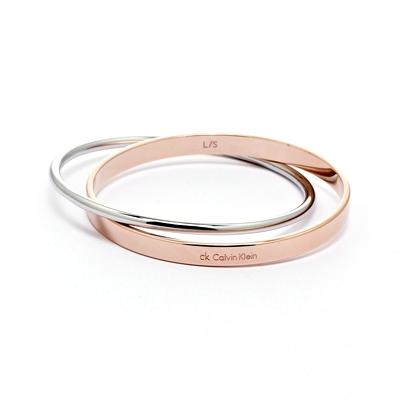 Calvin Klein CK Coli 玫瑰金雙色簡約雅緻手環