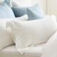 Cozy inn 簡單純色-白-200織精梳棉枕頭套-2入 product thumbnail 1