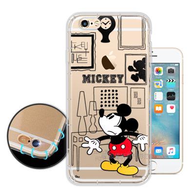 迪士尼授權正版 iPhone 6s/6 4.7吋 簡約線條 空壓安全手機殼(米奇...