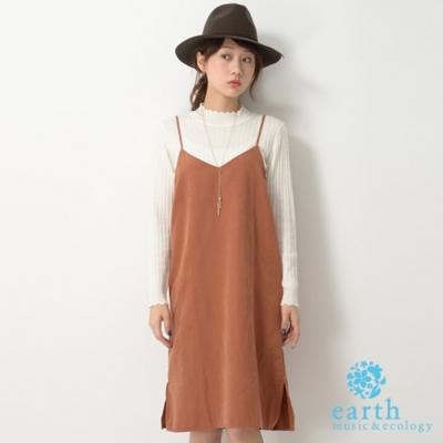 earth-music-細肩V領吊帶背心洋裝