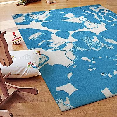 ESPRIT-Zora藍色短毛地毯-160x225cm