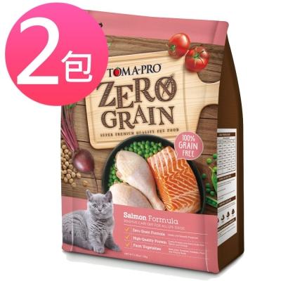 優格 天然零穀 ZEAOGRAIN 鮭魚敏感 貓用配方  2 . 5 磅(兩包組)