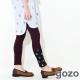gozo-圓點網布設計拼接內搭褲-共三色