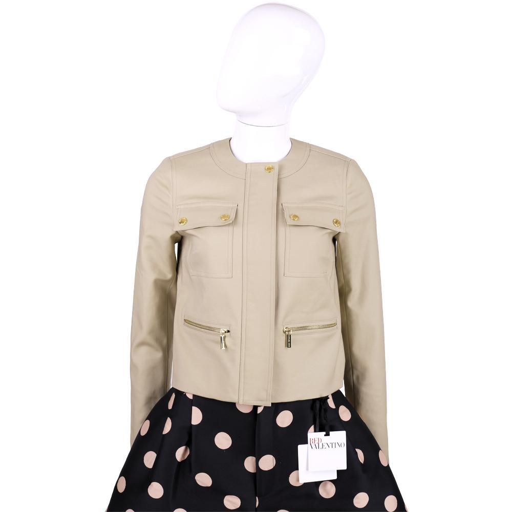MICHAEL KORS 卡其色口袋設計拉鍊外套
