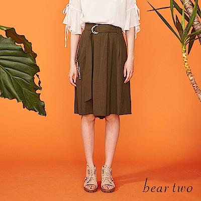 beartwo 穿環造型綁帶寬管口袋寬褲(三色)