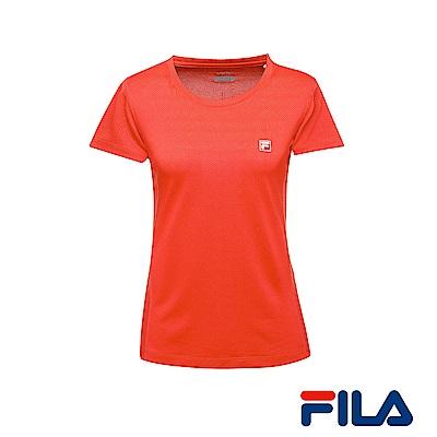 FILA女性吸排/抗UV點點T恤(橘紅) 5 TER- 1312 -OR