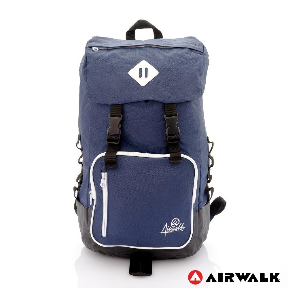 AIRWALK - 夜星 束口包壓扣蓋旅行系後背包 - 日出藍