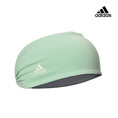 Adidas Yoga 運動吸汗防滑頭帶-綠灰