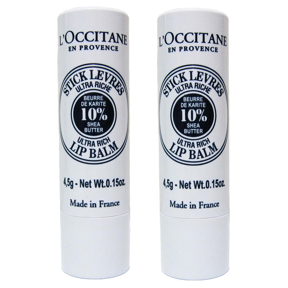 L'OCCITANE 歐舒丹 乳油木潤唇膏(4.5g*2入)