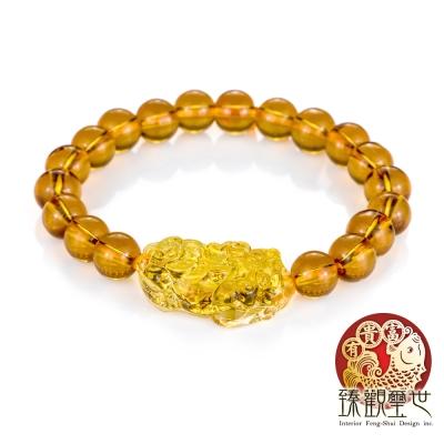 貔貅 光影守護 金黃貴氣貔貅手鍊 含開光 臻觀璽世