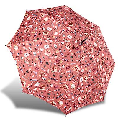 RAINSTORY倫敦風情(橙)抗UV自動開直骨傘