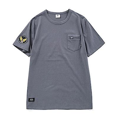 CACO-軍事布章口袋短T-兩色-男-ONA061
