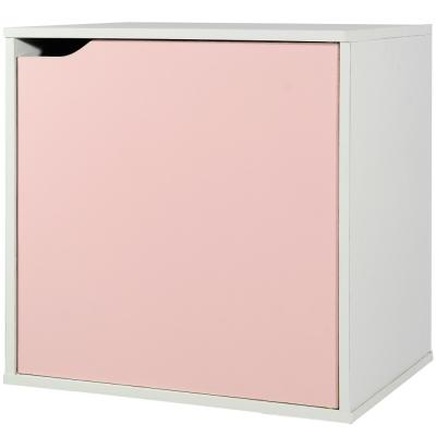 EASY HOME 魔術方塊單門收納櫃-熱帶粉