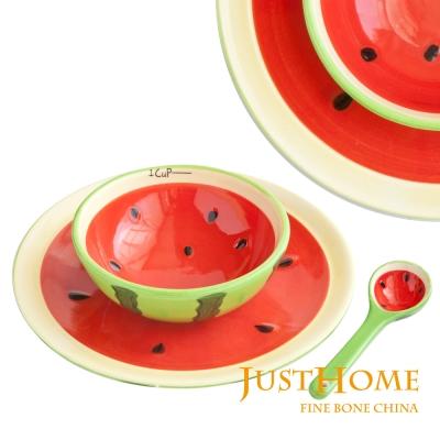 Just Home 繽紛水果碗盤匙餐具3件組(3款可選)