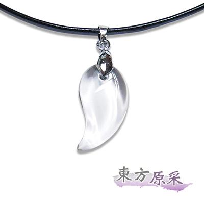 東方原采-自然系增強運勢白水晶勾玉項鍊