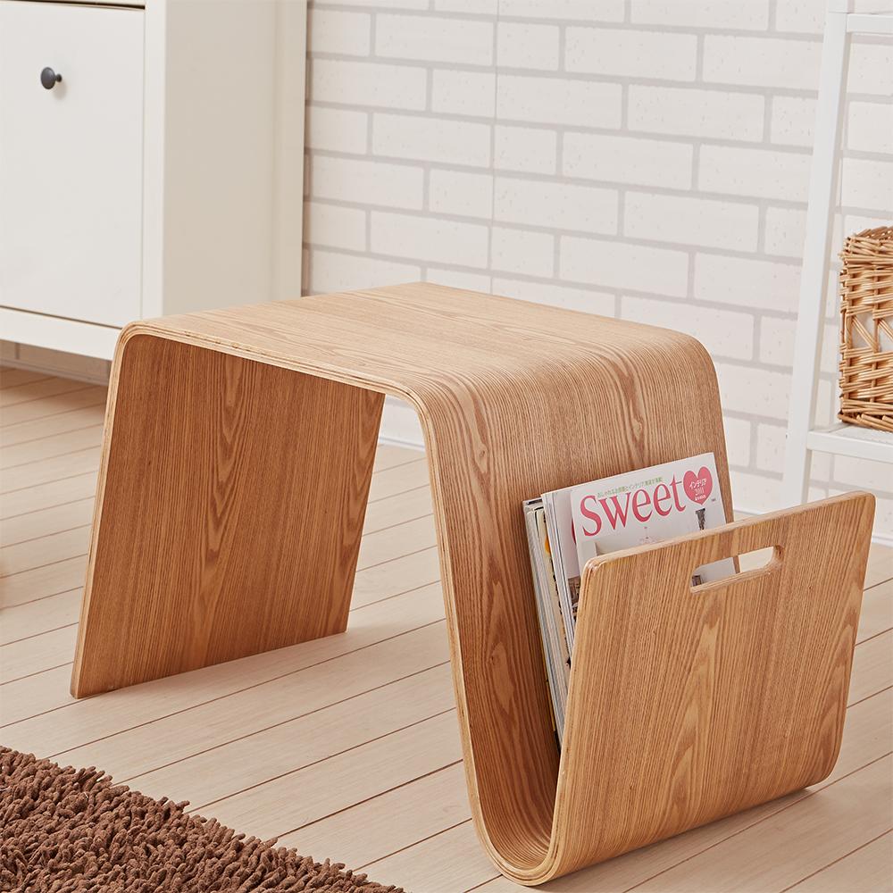 Bed Maker-刻尼卡 造型小茶几/雜誌架/邊桌/增厚1.2公分(兩色)