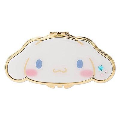Sanrio 大耳狗喜拿大臉造型金色滾邊雙面鏡(星)