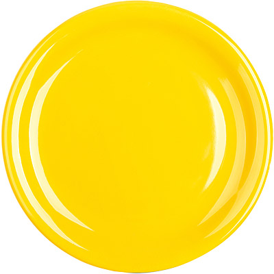 EXCELSA Fashion陶製淺餐盤(黃19.5cm)
