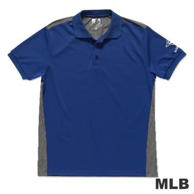 MLB-多倫多藍鳥隊修身撞色快排POLO衫-藍男